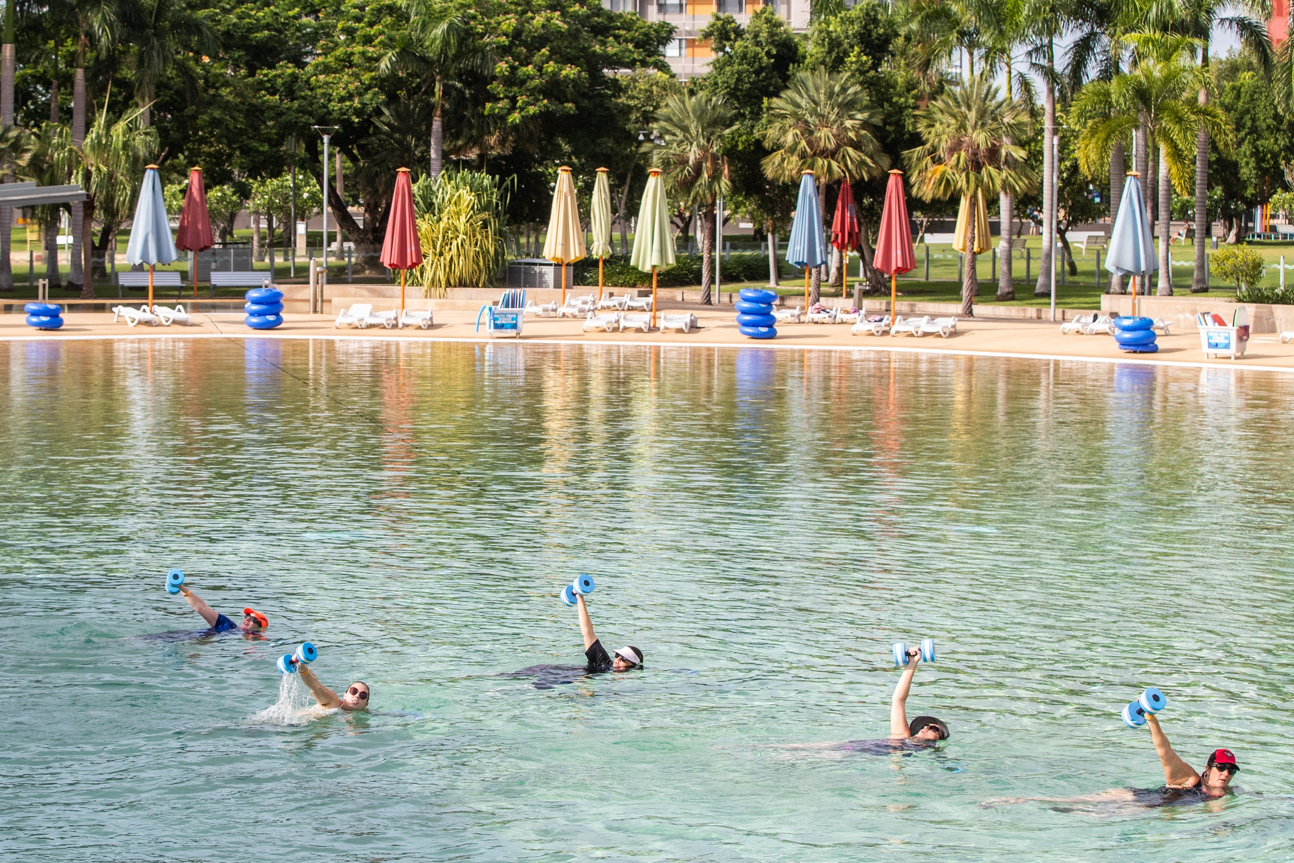 Aqua fitness in the Wave Lagoon - Casino Accommodation