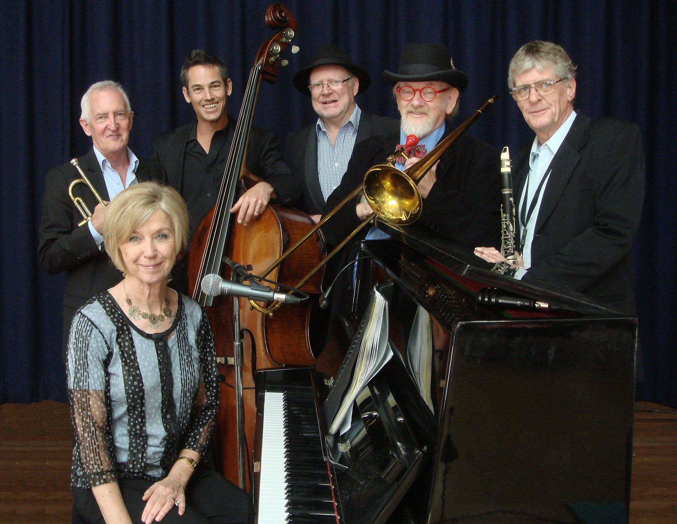 The Caxton Street Jazz Band in the Swigmore Hall at Robert Channon Wines - Casino Accommodation