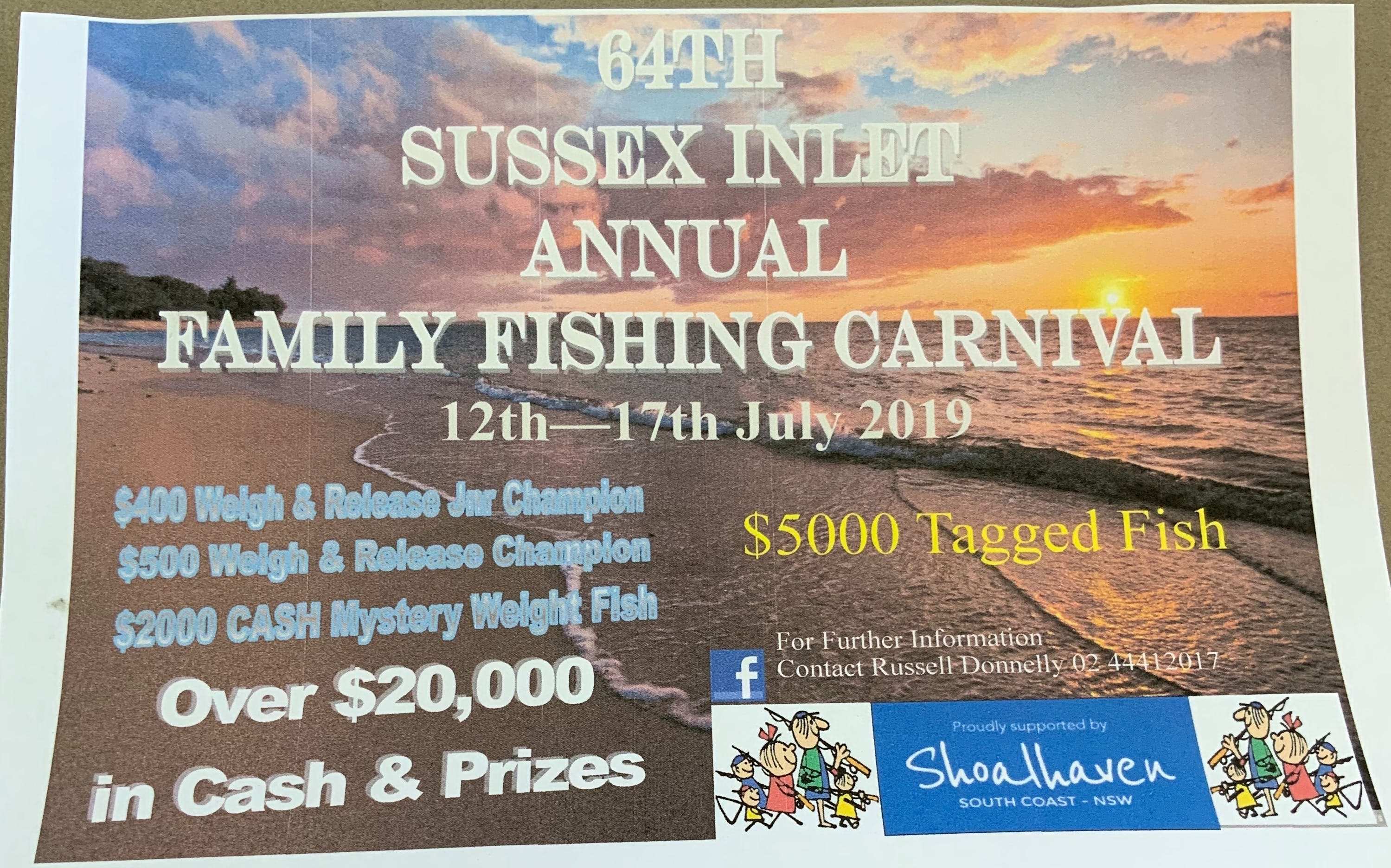 The Sussex Inlet Annual Family Fishing Carnival - Casino Accommodation